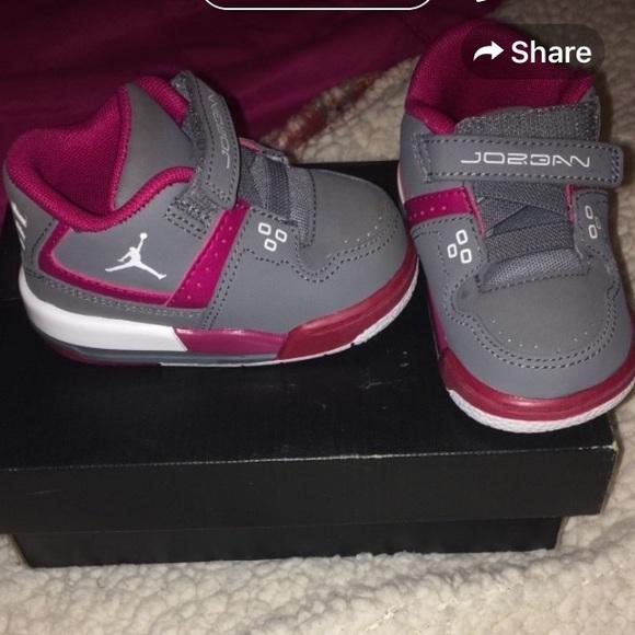 Pink and Grey Little Girl Jordans